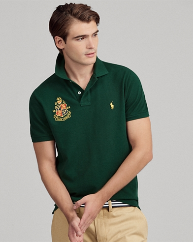 Polo de piqué custom slim fit