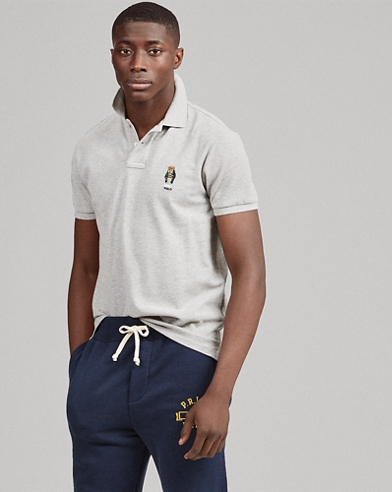 Polo con el osito Custom Slim-Fit