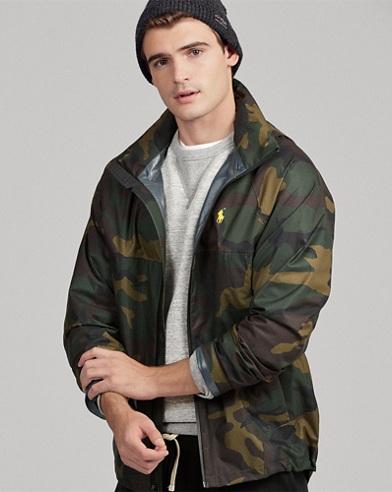 Wasserfeste Camouflage-Jacke