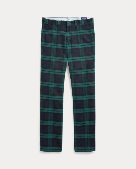 Stretch Slim Fit Tartan Chino
