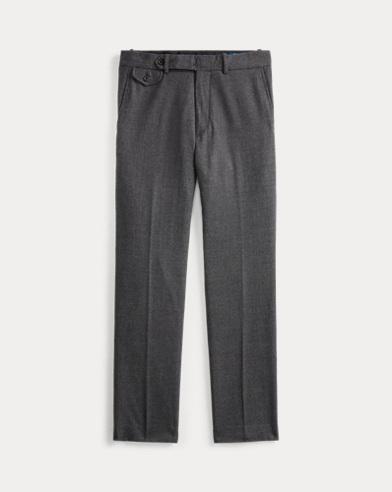 Stretch Slim Plaid Wool Trouser