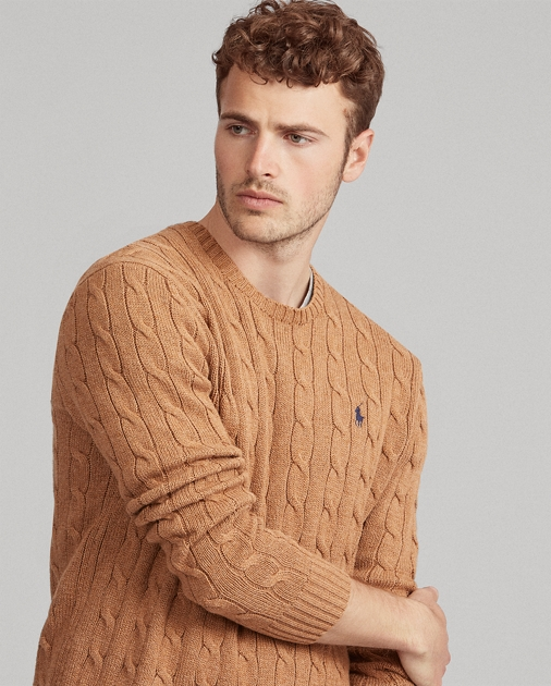 dd27a616904 Polo Ralph Lauren Cable-Knit Cotton Sweater 1