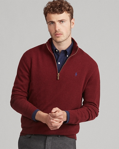 Merino Wool Half-Zip jumper