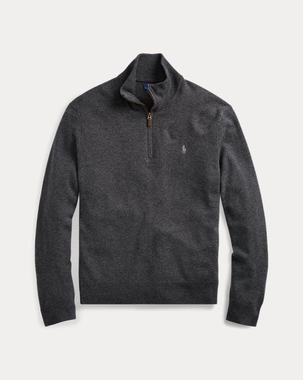 Merino Wool Quarter-Zip Sweater