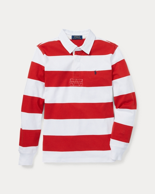 3d0328cd6ba BOYS 6-14 YEARS Striped Jersey Rugby Shirt 1