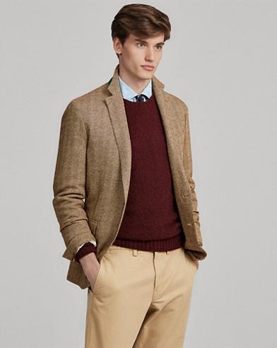 Maglia in camoscio, lana e cashmere