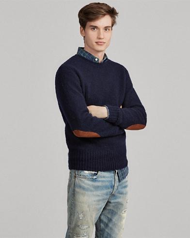 Jersey de ante, lana y cachemira