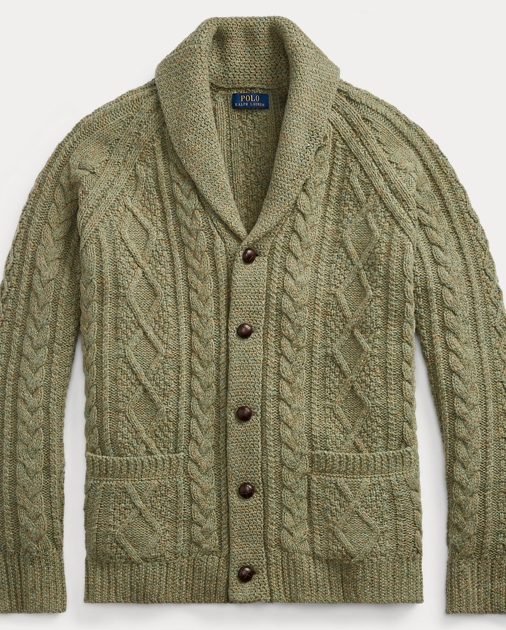 07f32f795bb1 Cable Wool-Cashmere Cardigan