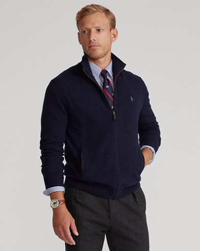 Merino Wool Full-Zip Sweater