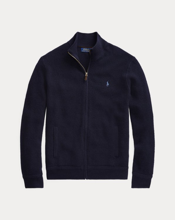 Merino Wool Full-Zip Jumper