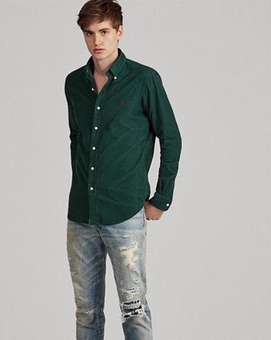 Camicia in velluto Classic-Fit