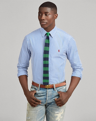 Camicia popeline a righe Slim-Fit