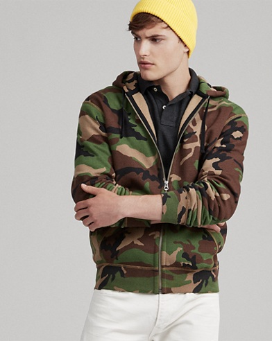 Camo Cotton-Blend Hoodie