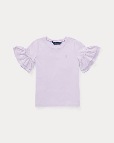Ruffled Jersey T-Shirt