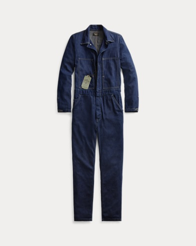 Cotton-Linen Denim Coverall