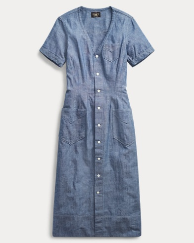 Abito in chambray indaco
