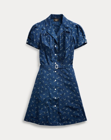 Floral Indigo Cotton Dress