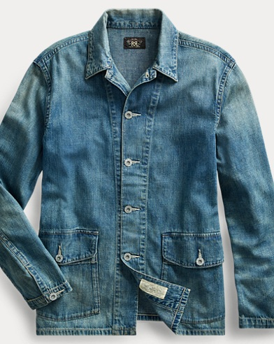 Cotton-Linen Denim Overshirt