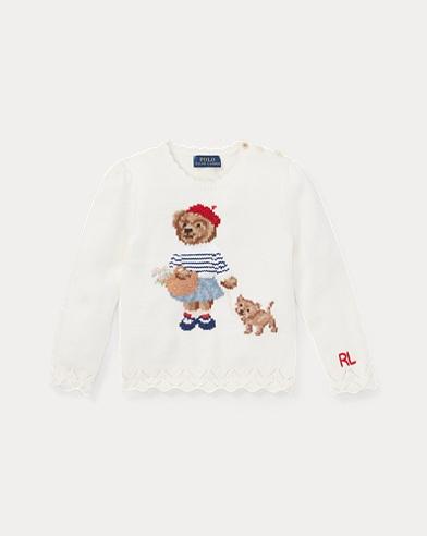 Baumwollpullover mit Polo Bear