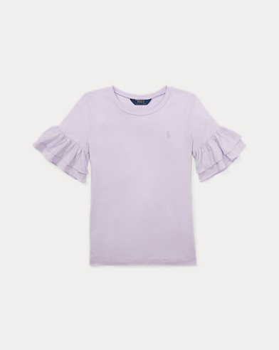 Ruffled Crewneck T-Shirt