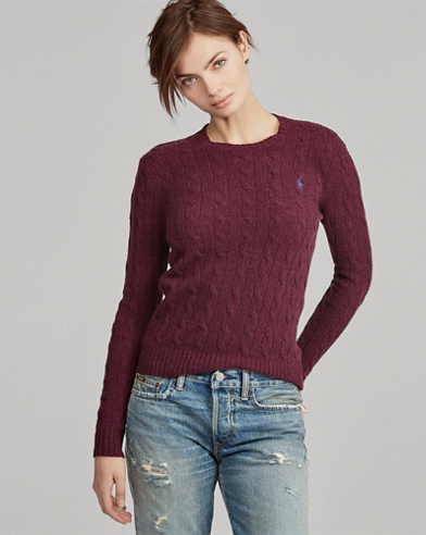 Maglia in lana a girocollo a trecce