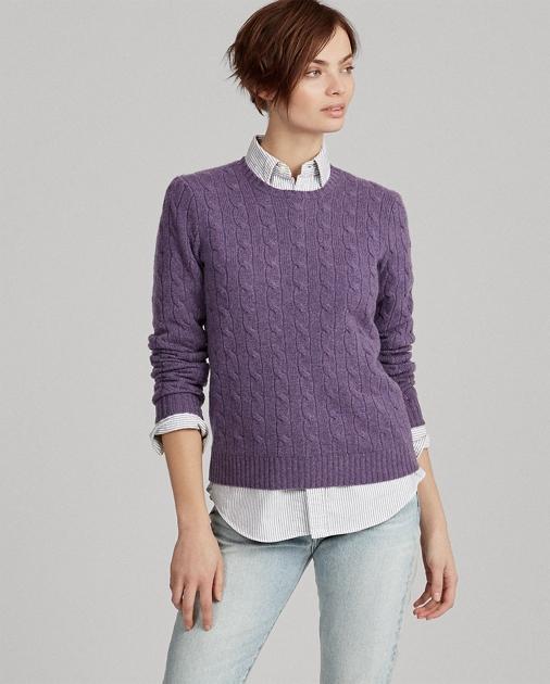 67075de584 Cable-Knit Cashmere Sweater | Cashmere Sweaters | Ralph Lauren