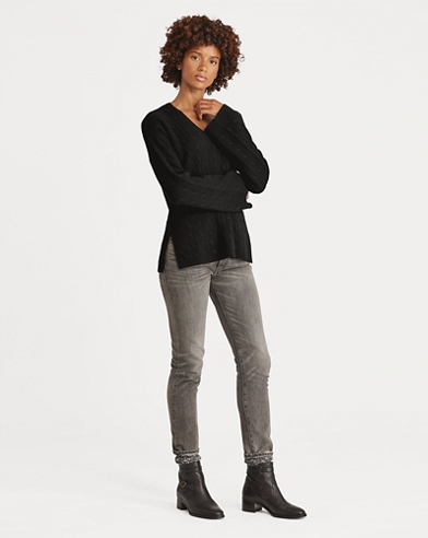 Cable Cashmere Dolman Sweater