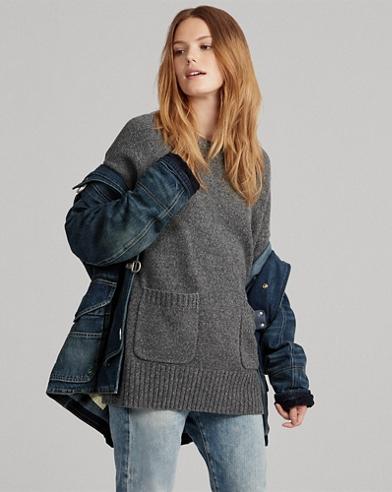 Maglia a girocollo in misto lana