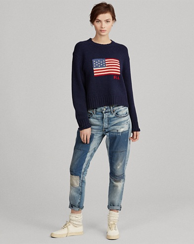 Flag Wool-Cashmere Sweater