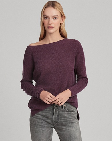 Wool-Blend Boatneck Top