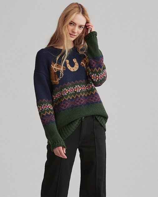 62fd4fbc06d5 Polo Ralph Lauren Horseshoe Fair Isle Sweater 1