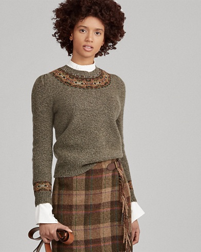 Fair Isle Wool-Blend Sweater