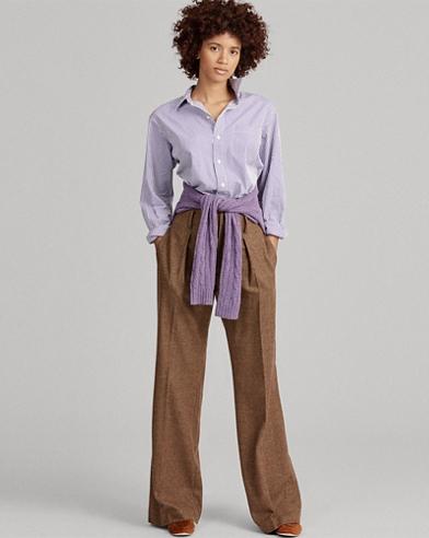 Big Fit Striped Cotton Shirt