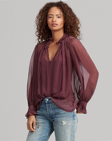 Blusa country in seta