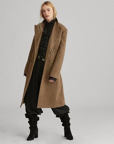 Glencheck-Trenchcoat mit Wolle. 50 % Preisnachlass auf ausgewählte Farben. Polo  Ralph Lauren 44d96320f2