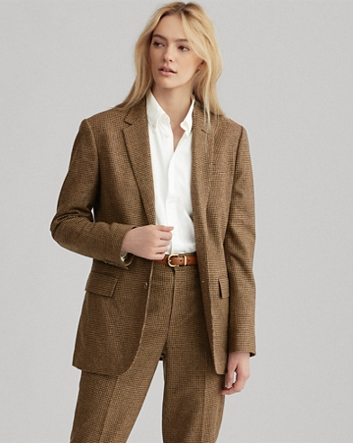 Blazer in tweed pied-de-poule