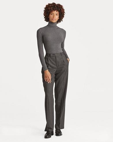 Wool Straight-Leg Pant