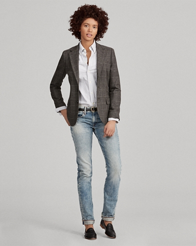 Blazer in lana finestrata