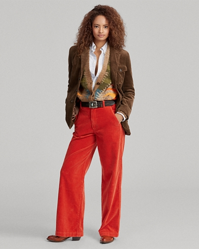 Corduroy Wide-Leg Trouser
