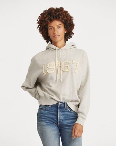 Bestickter Fleece-Pullover