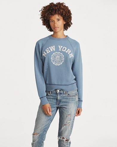Bedruckter Fleece-Pullover