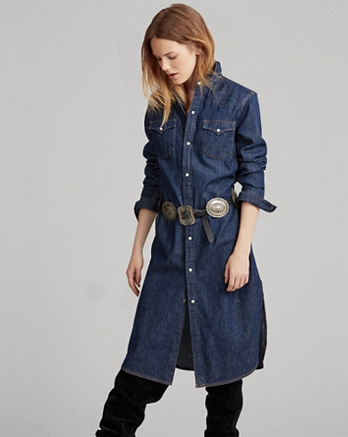Denim Western Shirtdress