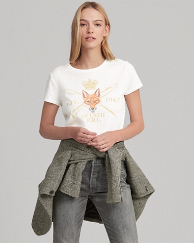 Fox-Print Graphic T-Shirt