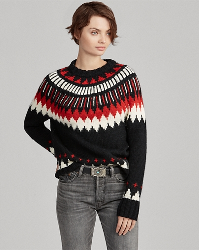 Geometric Wool-Blend Sweater