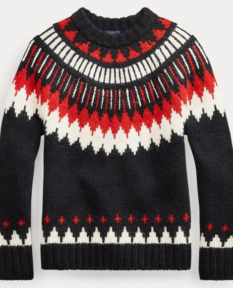 Geometric Wool-Blend Jumper