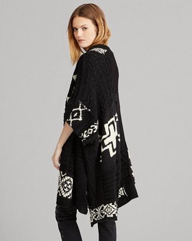 Cardigan géométrique laine mélangée
