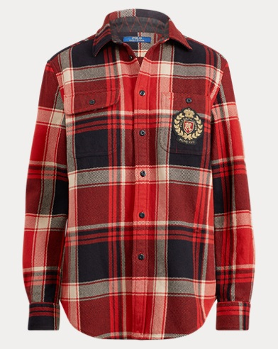 Plaid Crest Cotton Shirt
