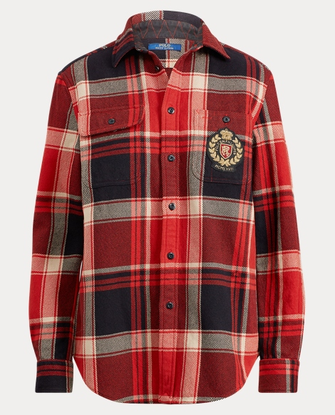 Tartan Crest Cotton Shirt