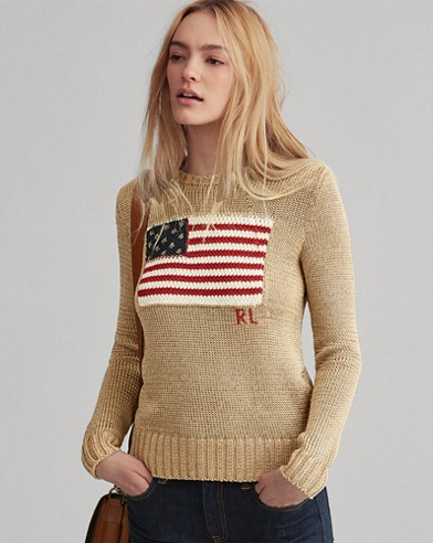 Flag Metallic Cotton Jumper