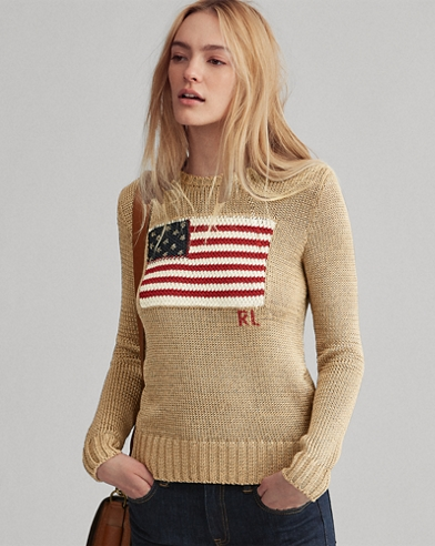 Flag Metallic Cotton Sweater